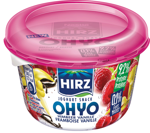 Joghurt Snack OHYO Himbeer Vanille