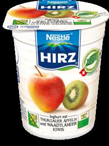 Joghurt mit Thurgauer Äpfel und Waadtländer Kiwi